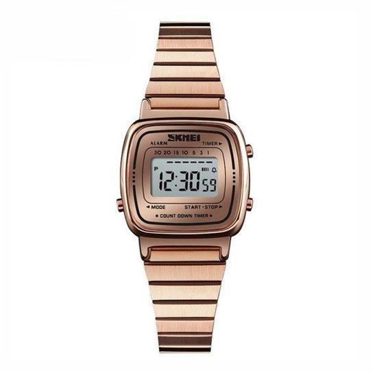 4f53168e0 Relógio Skmei Digital 1252 Feminino - Rose Gold - Compre Agora