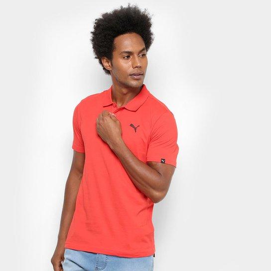 a43a33506b Camisa Polo Puma Ess Jersey Masculina - Vermelho Escuro