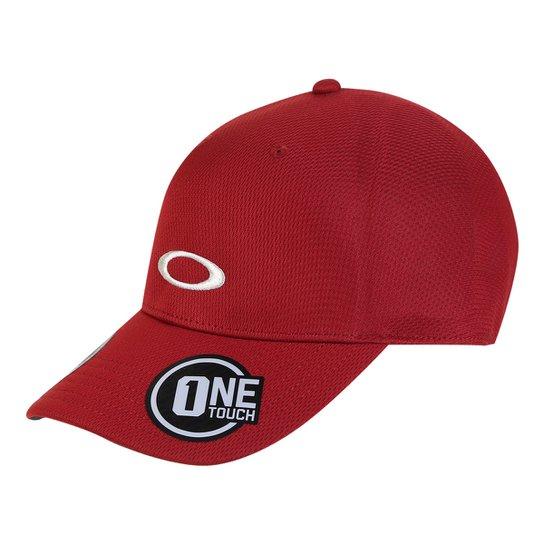 Boné Oakley Aba Curva Básico Mod Tech Cap Masculino - Vermelho Escuro 37e3a97918f
