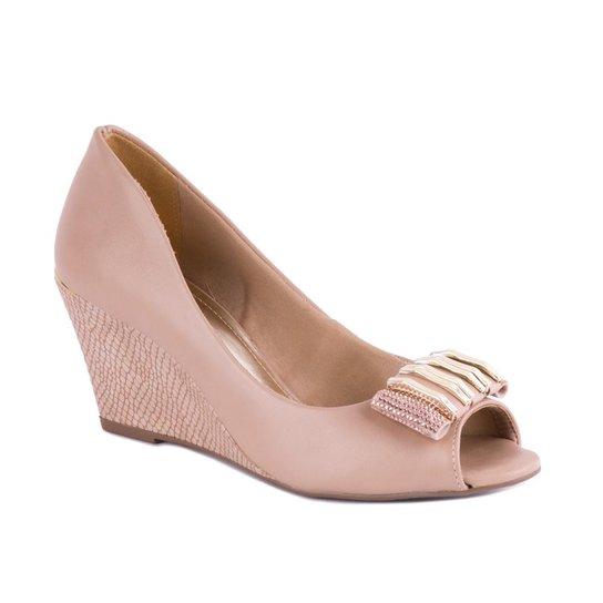59568d953 Sapato Via Marte Peep Toe Com Top - Compre Agora