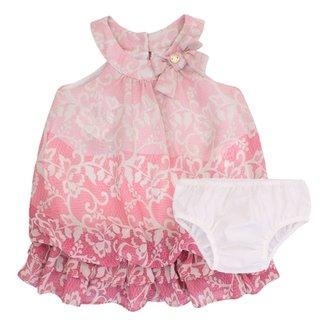 5cebc684c5 Vestido Calcinha Listra Floral Rosê