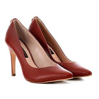f1c9ae2bb Scarpins Vermelho Escuro Tamanho 36 - Calçados | Zattini