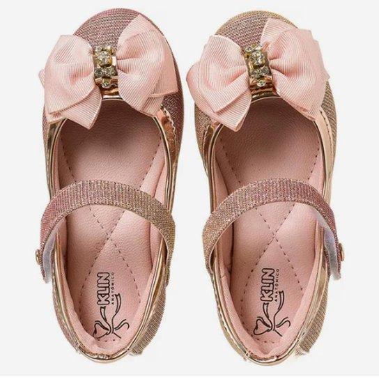 07b4274142 Sapatilha Infantil Klin Princesa Lurex - Rose Gold - Compre Agora ...