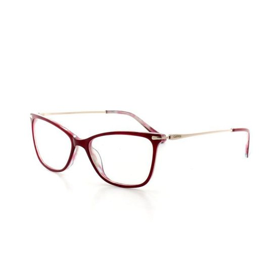 4153033ceb5d6 Armação De Óculos De Grau Cannes 3063 T 53 C 3 Feminino - Vermelho Escuro