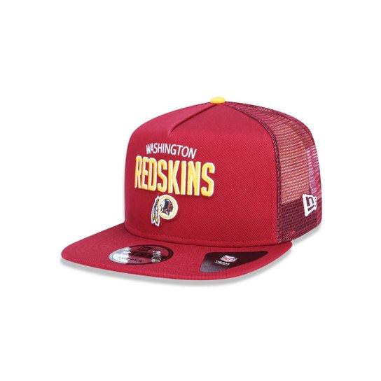 Boné 950 A-frame Washington Redskins NFL Aba Reta Snapback New Era - Vermelho  Escuro 2e9e843076c