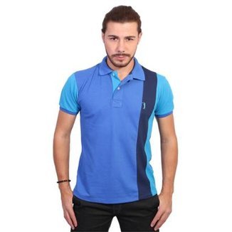 2d0447435 Camisa Polo Golf Club Listrada Masculina