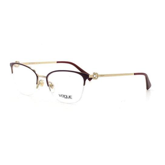 c5aca9977 Armação De Óculos De Grau Vogue 4095-B T 53 C 5093 E - Vermelho Escuro