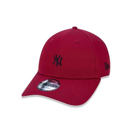 e7a65542e95 Boné 940 New York Yankees MLB Aba Curva Snapback New Era - Vermelho Escuro