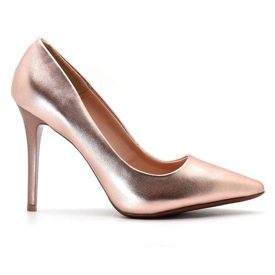 a2978a4c8 Scarpin Royalz Metalizado Feminino - Rose Gold - Compre Agora