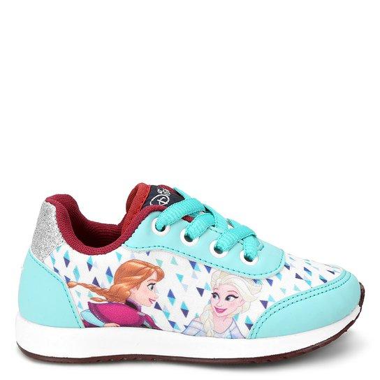 Tênis Infantil Disney Frozen Feminino - Azul Claro+Branco 8732470bd844a
