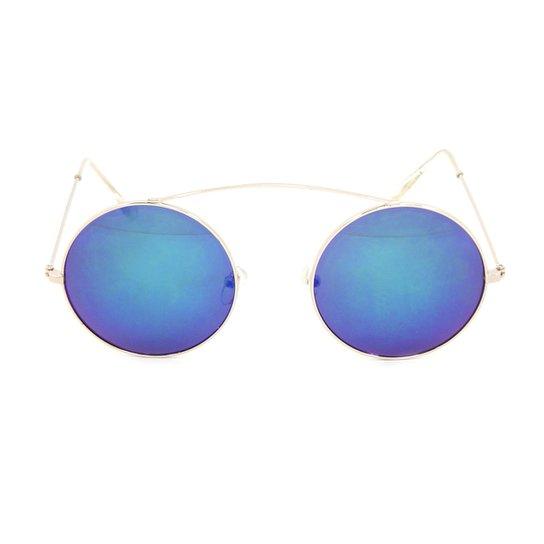 Óculos Bijoulux de Sol Redondo Espelhado - Compre Agora   Zattini 0f519c00ed