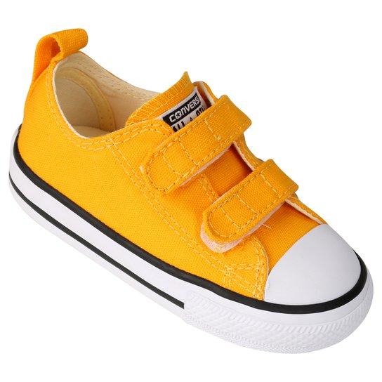 4777896f686 Tênis Converse CT AS 2V OX Infantil - Amarelo+Branco
