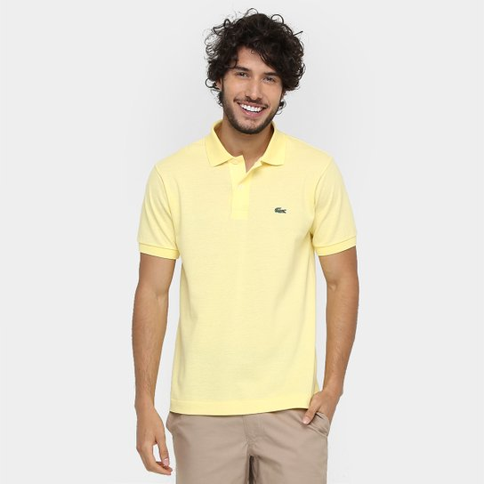 ad49ea7291e73 Camisa Polo Lacoste Original Fit Masculina - Amarelo Claro - Compre ...