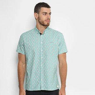 fb3745229 Camisa Slim Manga Curta Colcci Estampada Masculina