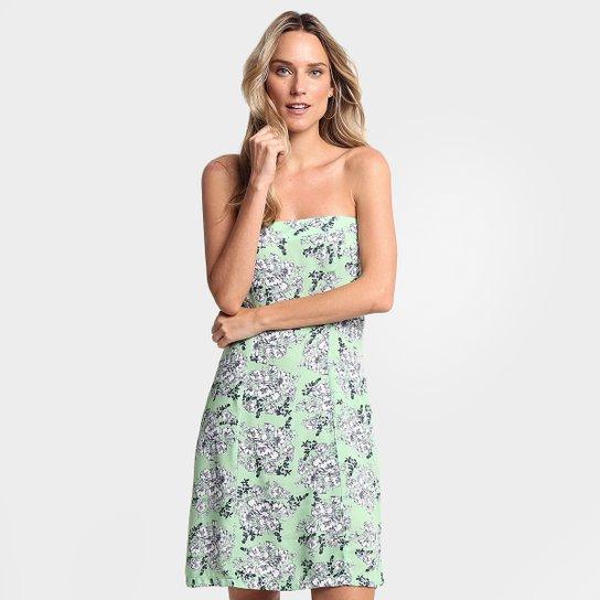 e84003023 Vestido Mercatto Tomara Que Caia - Verde+Branco