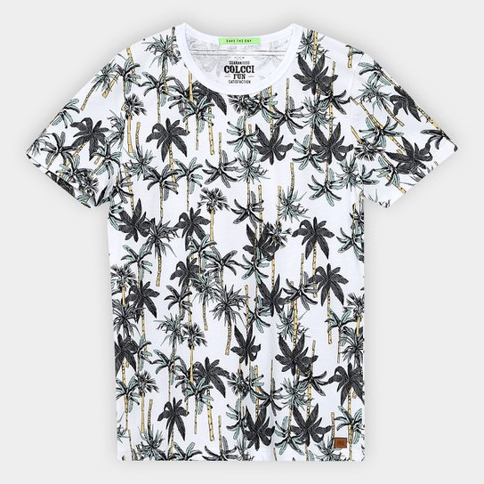 8dc62df15 Camiseta Infantil Colcci Fun Estapada Coqueiro Masculina - Verde+Branco