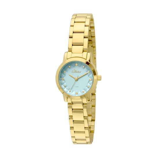 Relógio Condor Feminino Mini - Dourado e Azul - Compre Agora   Zattini 3bd9f4fcc7