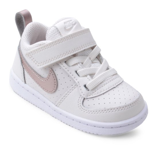 65373247fb6 Tênis Nike Infantil Court Borough Low Feminino - Branco - Compre ...