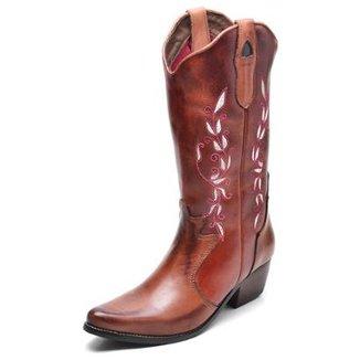643095401 Botas Top Franca Shoes Feminino Dourado Tamanho 36 - Calçados | Zattini