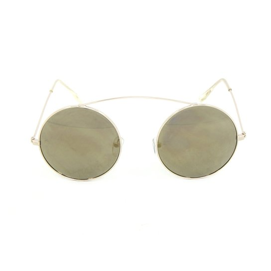 Óculos Bijoulux de Sol Redondo Espelhado - Compre Agora   Zattini 128af4a6c3