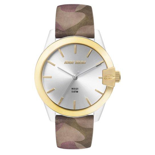 c51b174c606 Relógio Mormaii Feminino Luau - MO2035IL 8B MO2035IL 8B - Dourado+Marrom