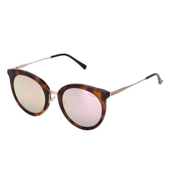 bc6676fc306ee Óculos de Sol Colcci Espelhado C0075 Feminino - Dourado e Marrom ...