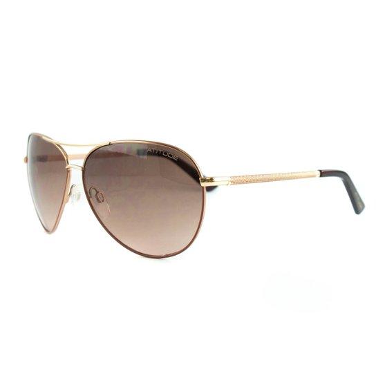 d649fbc257473 Óculos Atitude De Sol - Dourado+Marrom