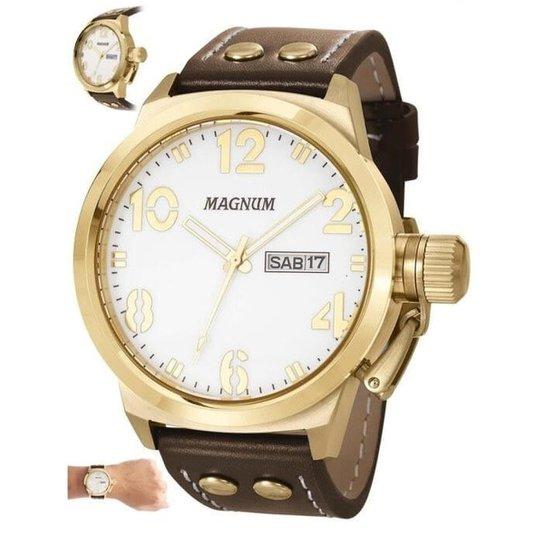 1f46bfd3ca3 Relógio Magnum Masculino MA32783B - Dourado e Marrom - Compre Agora ...