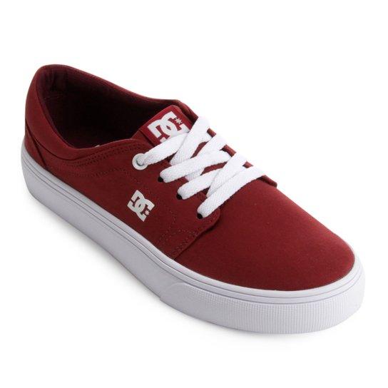 76b958b7f5e Tênis DC Shoes Trase Tx Feminino - Vermelho+Branco