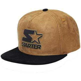 Boné Starter Aba Reta Snapback Suede Gold 35468c784a9