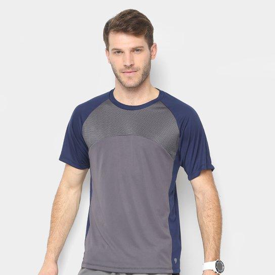 b40a1f3ede Camiseta Gonew Recorte Tela Masculina - Marinho e Cinza - Compre ...