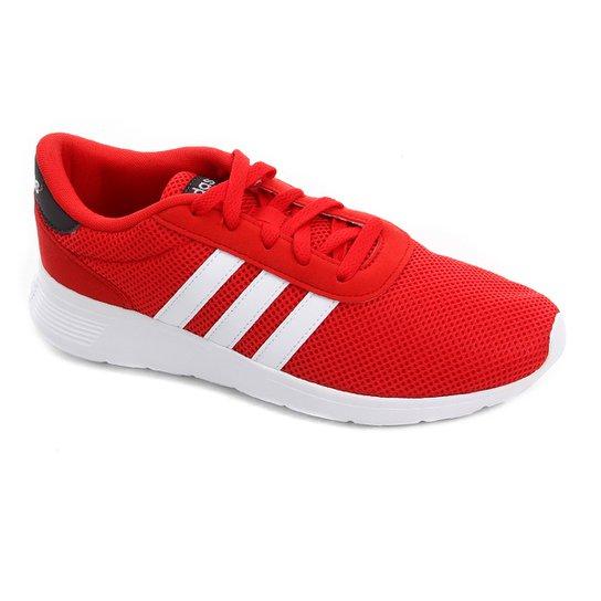 861ca6129 Tênis Adidas Lite Racer Masculino - Vermelho e Branco | Zattini