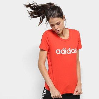 64584202ef3a9 Camiseta Adidas Estampa Logo Slim Feminina