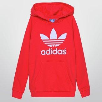 91e55fbc4d7 Moletom Adidas J Adi Trefoil Hoodie c  Capuz Infantil