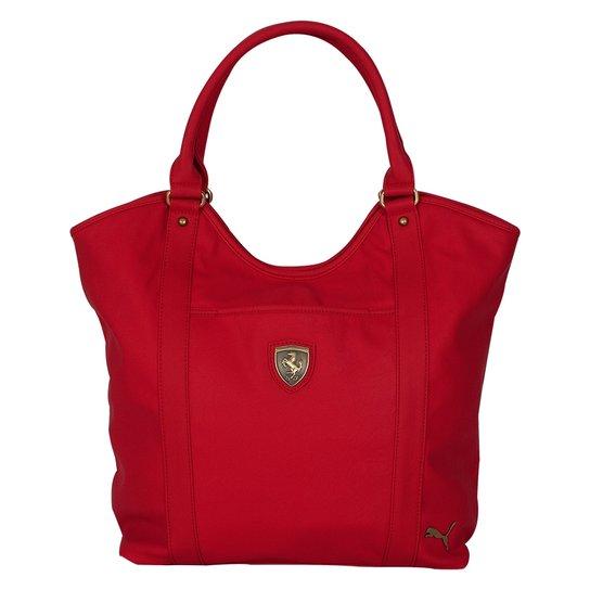 d471e831f Bolsa Puma Ferrari Ls Shopper 070463 - Vermelho+Branco