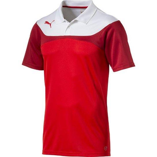 1edefbef4c Camiseta Polo Puma Leisure - Vermelho e Branco - Compre Agora