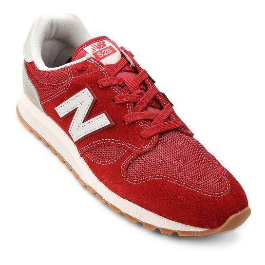 b9e0e7039b3 Tênis Couro New Balance U 520 Masculino - Vermelho e Branco - Compre ...