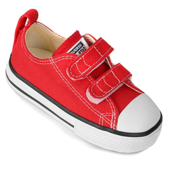 2492f20a110 Tênis Converse CT AS CORE 2V OX Infantil - Vermelho e Branco ...