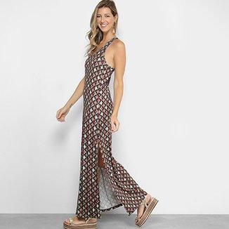 246accc74 Vestido Longo Colcci Fendas Estampado Feminino