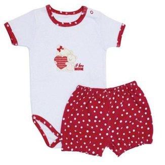 be45a8d549 Conjunto I Love Mom Bebê Feminino Mini Baby