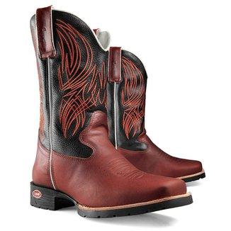 Bota Texana Country Capelli Boots em Couro Bico Quadrado Solado em Borracha  Masculina 021ebe2fbc5