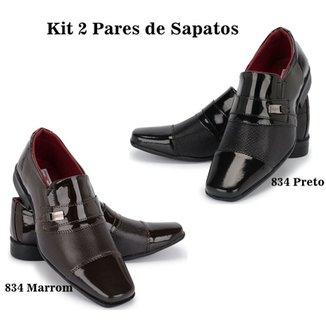 193128ce40eea Kit Sapato Social Verniz + Sapato Social Verniz Schiareli Masculino