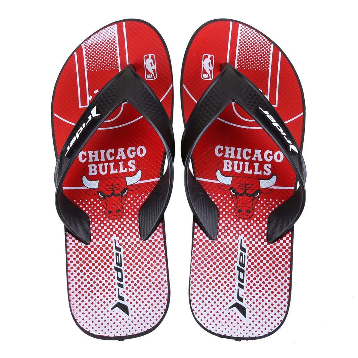 Chinelo NBA Chicago Bulls Rider Street Bold Ad Masculino