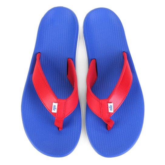 f3f07bca3e Chinelo Nike Kepa Kai Thong Masculino - Azul e Vermelho - Compre ...