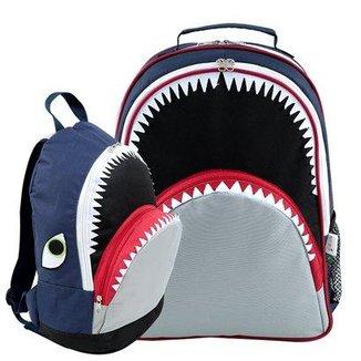 9bd1607e7 Kit Infantil Mochila Escolar Mumagi + Mochila Passeio Tubarão Tuba Masculino