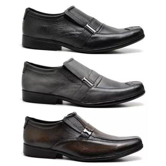 8a8cef2e52 Kit Sapato Social Style Prime Shoes Masculino - Preto e Marrom ...