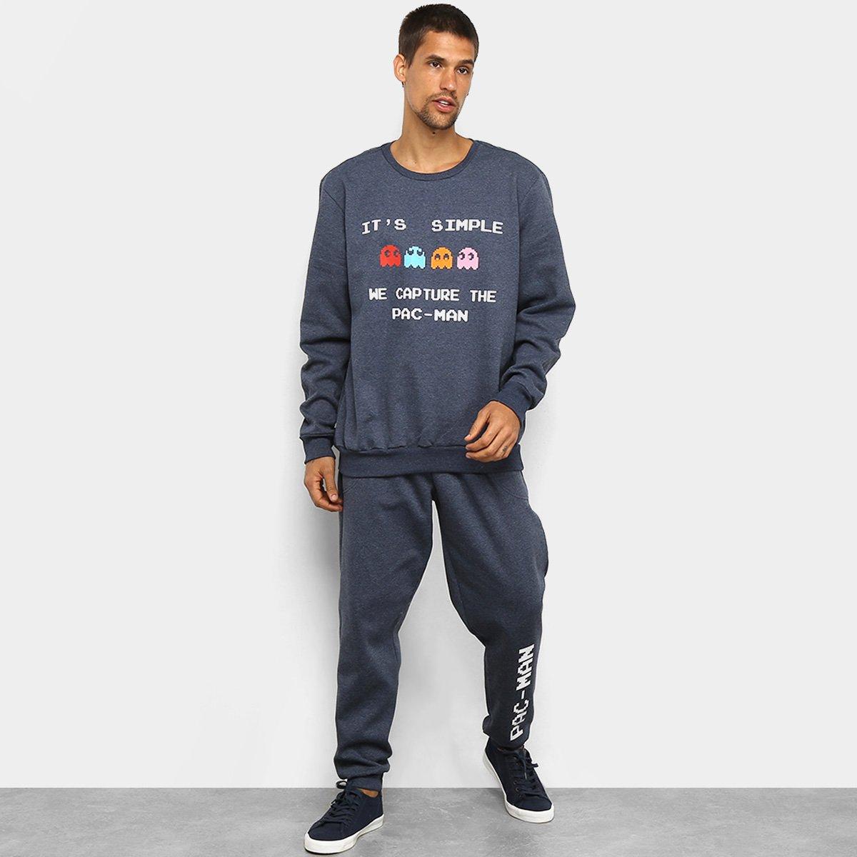 Agasalho Moletom Pacman Blusa e Calça Capture Masculino