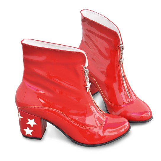 ea8e2c6805 Bota bandUP! Geek DC Comics Mulher Maravilha Star Glitter - Vermelho+Branco
