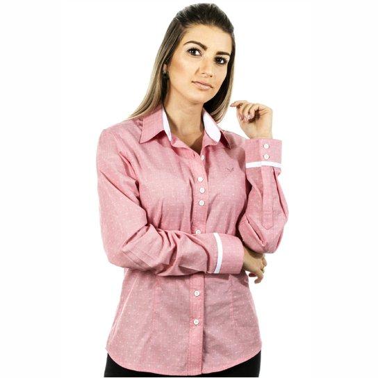 c962c6c4f0 Camisa Pimenta Rosada Dállia - Vermelho+Branco
