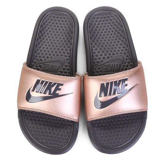 a2463070a594fd Chinelo Nike Benassi JDI Slide Feminina - Cobre